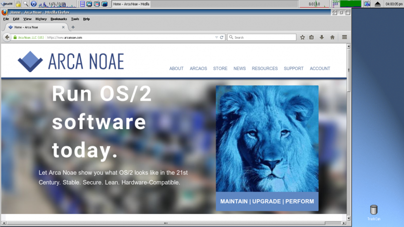Firefox on ArcaOS