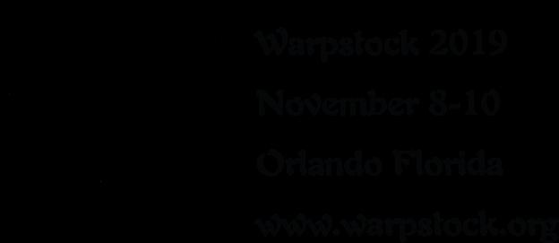 Warpstock 2019, November 8-10, Orlando, Florida